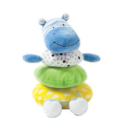 Manhattan Toy Soft Stacker Baby Toy- Blue Hippo