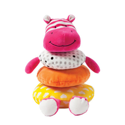 Manhattan Toy Soft Stacker Baby Toy- Pink Hippo