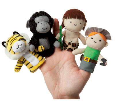 Manhattan Toy Storytime - A Jungle Story Finger Puppet Set
