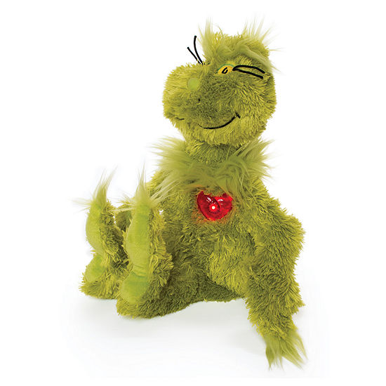 Manhattan Toy Dr. Seuss Grinch With Light Up Heart Plush Toy