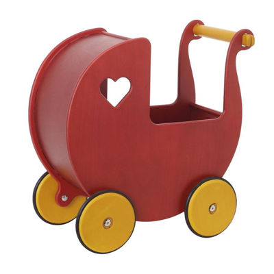 Moover Mini Dolls Pram Red
