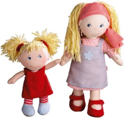 "HABA Doll Sisters Lennja (12"") & Elin (8"")"""