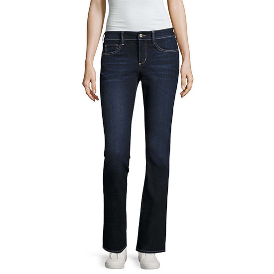 Arizona Womens Low Rise Bootcut Jean-Juniors