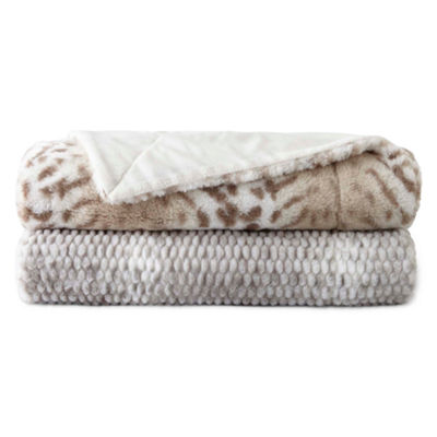 Royal Velvet Serengeti Faux Fur Throw