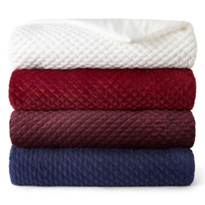 JCPenney Home Quilted Diamond Ruched Throw