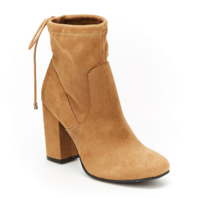 Unionbay Womens Calissa Booties Block Heel Pull-on