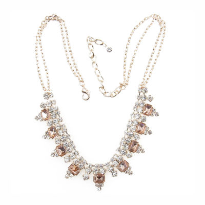 Vieste Rosa Womens Pink Statement Necklace