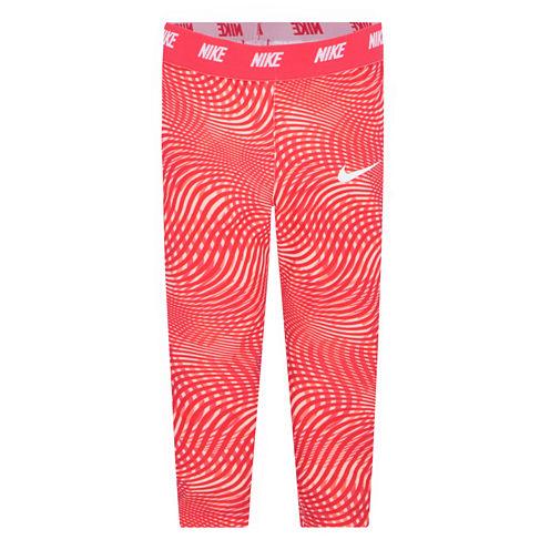 Nike Pattern Jersey Leggings - Preschool Girls