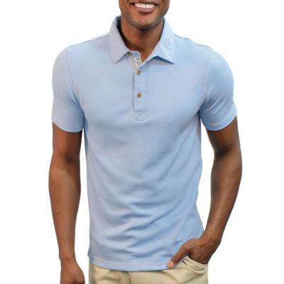 Steve Harvey Contract Stitching Short Sleeve Knit Polo Shirt