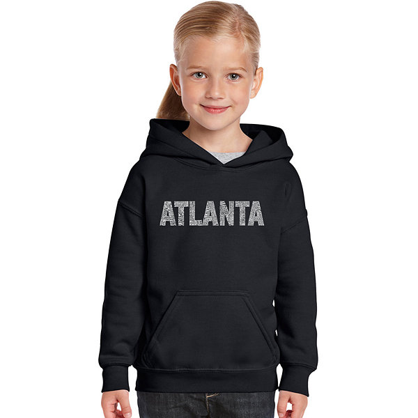 Los Angeles Pop Art Atlanta Neighborhoods Long Sleeve Girls Word Art Hoodie
