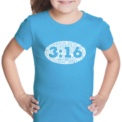 Los Angeles Pop Art John 3:16 Short Sleeve Girls Graphic T-Shirt