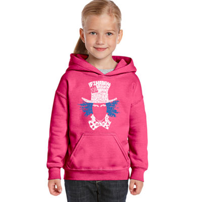 Los Angeles Pop Art The Mad Hatter Long Sleeve Sweatshirt Girls