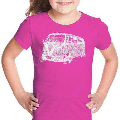 Los Angeles Pop Art The 70'S Short Sleeve Graphic T-Shirt Girls