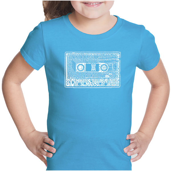 Los Angeles Pop Art The 80's Short Sleeve Girls Graphic T-Shirt