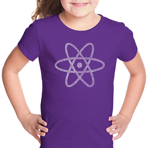 Los Angeles Pop Art Atom Short Sleeve Graphic T-Shirt Girls