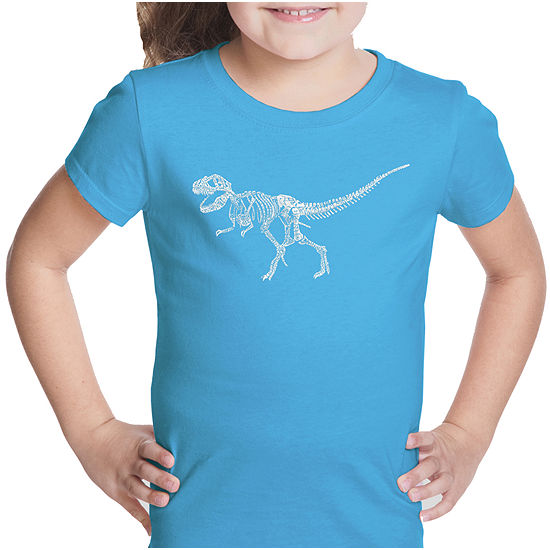 9820d65fd Los Angeles Pop Art Dinosaur T-Rex Skeleton Short Sleeve Graphic T ...
