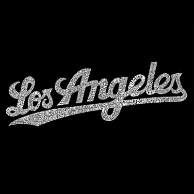 Los Angeles Pop Art Los Angeles Neighborhoods Long Sleeve Sweatshirt Girls