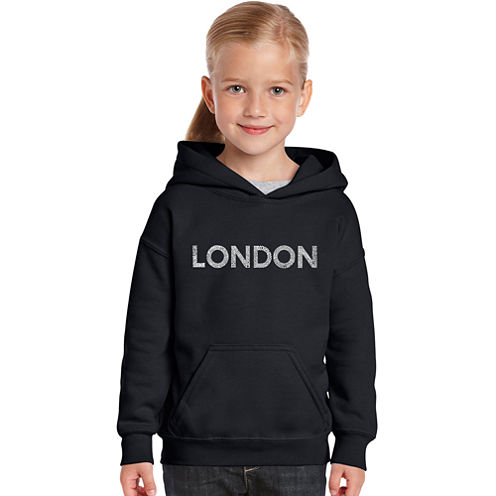 Los Angeles Pop Art London Neighborhoods Long Sleeve Sweatshirt Girls