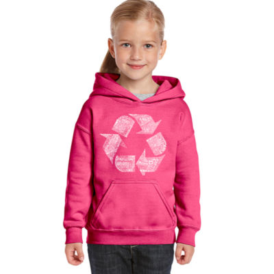 Los Angeles Pop Art 86 Recyclable Products Long Sleeve Girls Word Art Hoodie