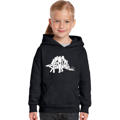 Los Angeles Pop Art Stegosaurus Long Sleeve Sweatshirt Girls
