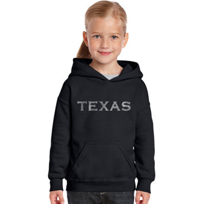Los Angeles Pop Art The Great Cities Of Texas Long Sleeve Sweatshirt Girls