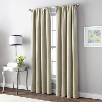 CHF Mosaic Tile Room Darkening Rod-Pocket Curtain Panel