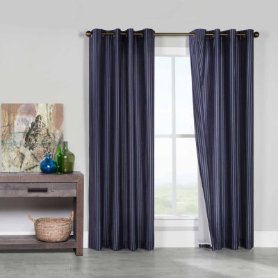 Classic Stripe Grommet-Top Curtain Panel
