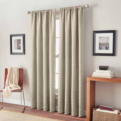 Diamond Circuit Rod-Pocket Curtain Panel
