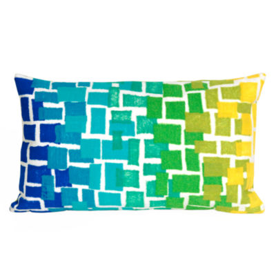 Liora Manne Visions Ii Ombre Tile Rectangular Outdoor Pillow