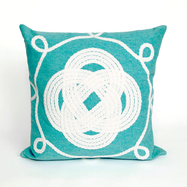 Liora Manne Visions Ii Ornamental Knot Square Outdoor Pillow