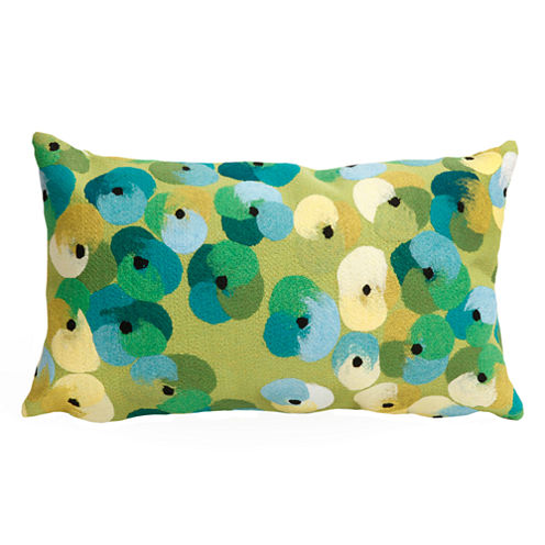 Liora Manne Visions Ii Pansy Rectangular Outdoor Pillow