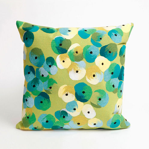 Liora Manne Visions Ii Pansy Square Outdoor Pillow