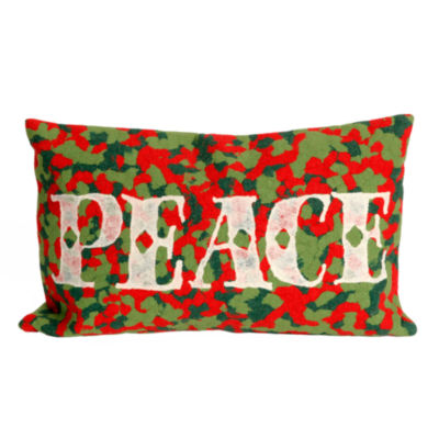 Liora Manne Visions Ii Peace Rectangular Outdoor Pillow