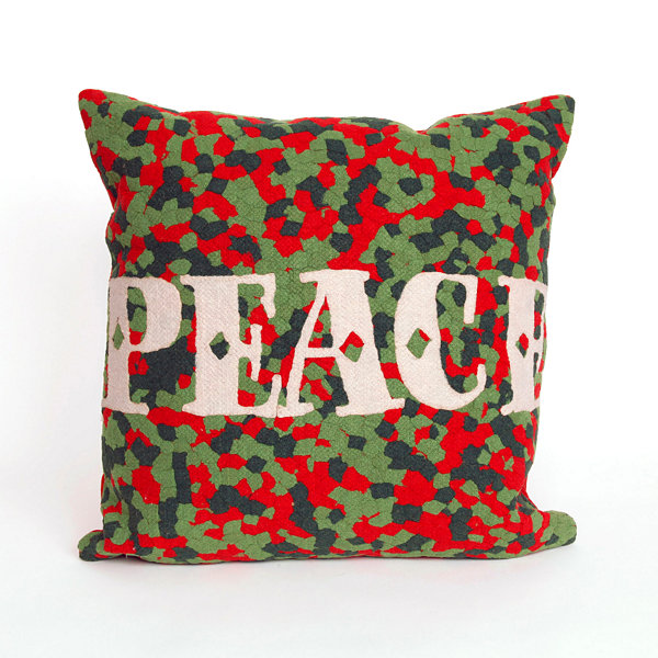 Liora Manne Visions Ii Peace Square Outdoor Pillow