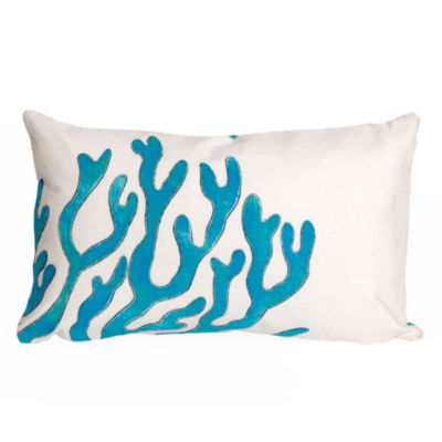 Liora Manne Visions Ii Coral Rectangular Outdoor Pillow