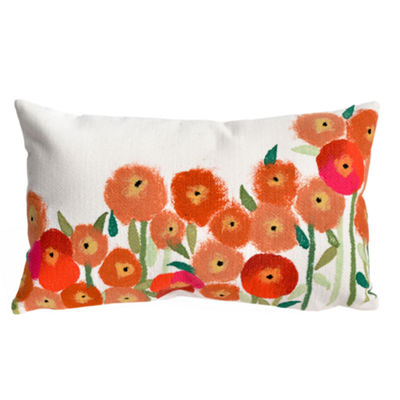 Liora Manne Visions Iii Poppies Rectangular Outdoor Pillow