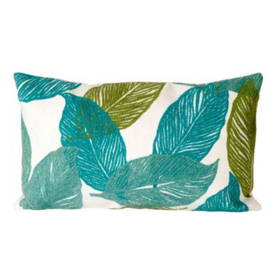 Liora Manne Visions I Mystic Leaf Rectangular Outdoor Pillow