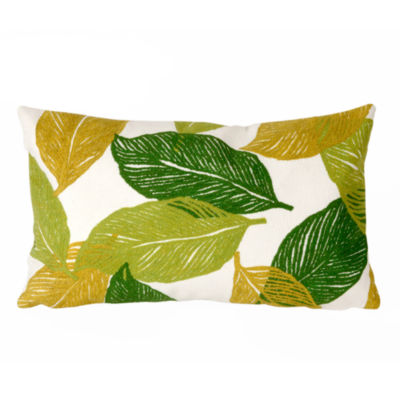 Liora Manne Visions I Mystic Leaf Rectangular Outdoor Pillow