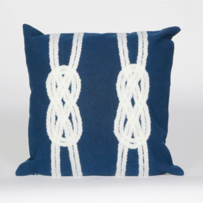 Liora Manne Visions Ii Double Knot Square Outdoor Pillow