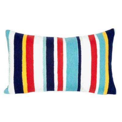 Liora Manne Visions Iii Riviera Strp Rectangular Outdoor Pillow