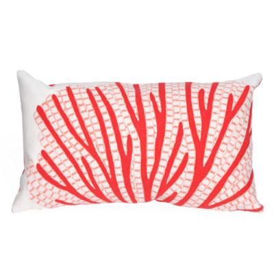 Liora Manne Visions Iii Coral Fan Rectangular Outdoor Pillow