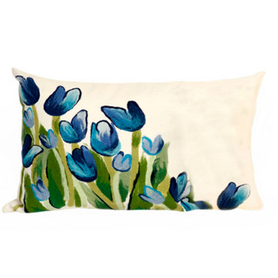 Liora Manne Visions Ii Allover Tulips Rectangular Outdoor Pillow