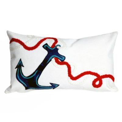 Liora Manne Visions Ii Anchor Rectangular Outdoor Pillow