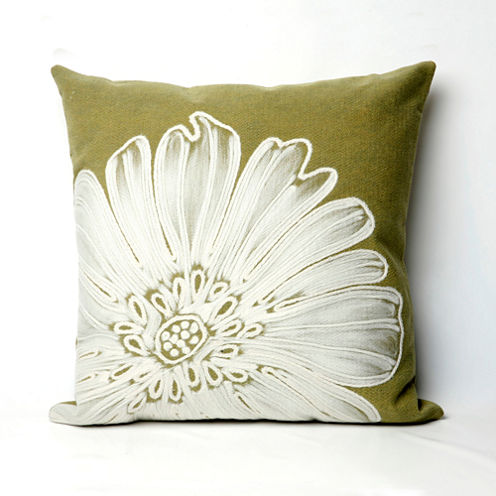 Liora Manne Visions Ii Antique Medallion Square Outdoor Pillow