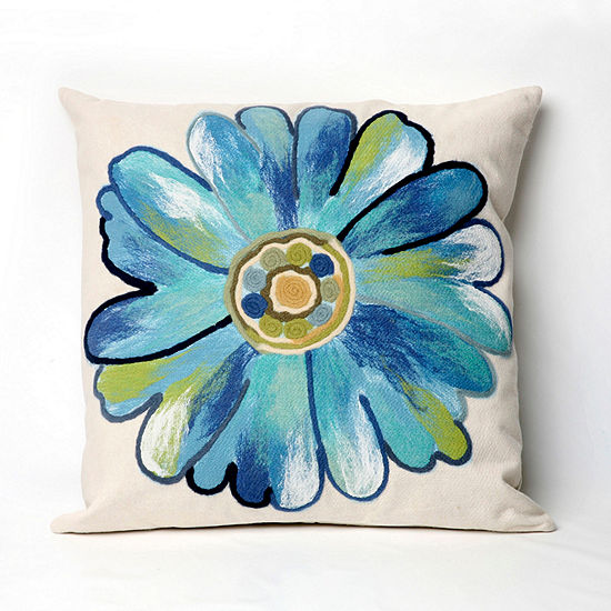 Liora Manne Visions Iii Daisy Square Outdoor Pillow