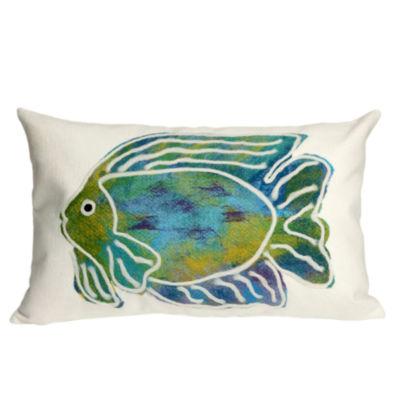 Liora Manne Visions Ii Batik Fish Rectangular Outdoor Pillow