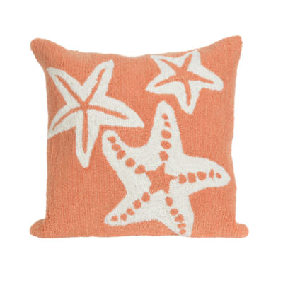 Liora Manne Frontporch Starfish Square Outdoor Pillow