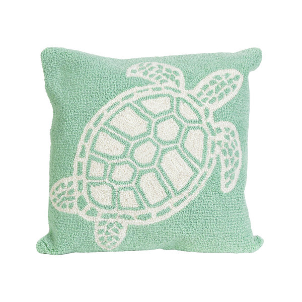 Liora Manne Frontporch Turtle Square Outdoor Pillow