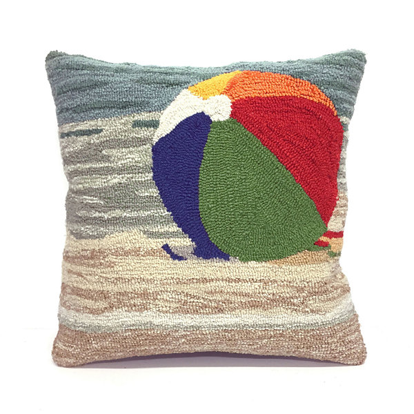 Liora Manne Frontporch Life'S A Beach Square Outdoor Pillow