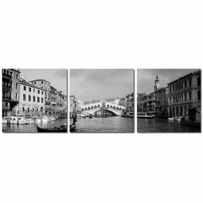 Baxton Studio Rialto Bridge Mounted  3-pc. Photography Print Triptych Set